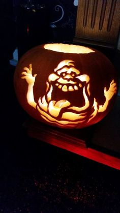 ghostbuster pumpkin - Google Search