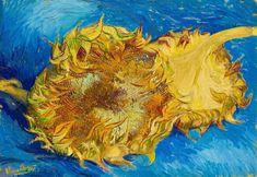 Vincent van Gogh Two Cut Sunflowers painting for sale - Vincent van Gogh Two Cut Sunflowers is handmade art reproduction; You can buy Vincent van Gogh Two Cut Sunflowers painting on canvas or frame. Vincent Van Gogh Pinturas, Vincent Willem Van Gogh, Georges Seurat, Art Van, Flores Van Gogh, Desenhos Van Gogh, Van Gogh Still Life, Van Gogh Flowers, Sun Flowers