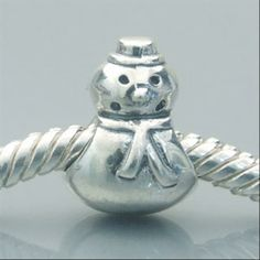 Snowman Authentic 925 Sterling Silver Beads Occasions