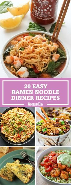 These easy ramen noodle dinner recipes are perfect for eating on a budget! Get creative with ramen noodles and make the 20-minute Sriracha shrimp ramen for a busy weeknight meal.