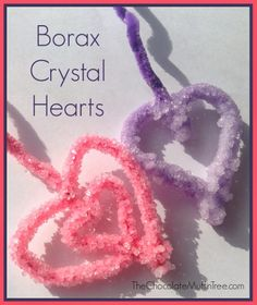 The Chocolate Muffin Tree: Science Experiment: Borax Crystal Hearts