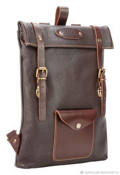"Рюкзаки ручной работы. Кожаный рюкзак ""Vogue New"" (тёмно-коричневый). Кожинка-САШЕ (sachet-spb). Интернет-магазин Ярмарка Мастеров. Vintage Leather Backpack, Leather Pouch, Leather Men, Designer Purses And Handbags, Brown Leather Totes, Leather Bags Handmade, Leather Projects, Backpack Bags, Bag Accessories"