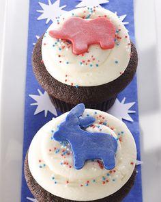 Election Day Cupcakes     #Election,  #Cupcakes