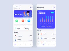 Wallet App Design by Dibbendo Pranto ✪ for UICraft Studio on Dribbble Flat Web Design, App Ui Design, Mobile App Design, Tracking App, Mobile App Ui, Ui Design Inspiration, Screen Design, Show And Tell, Mobile Application