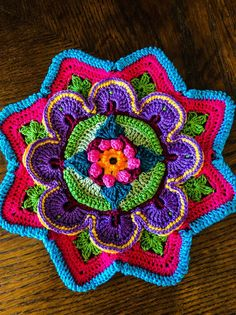 Johanna Mahkonen Mandala Madness - Part 2 Interpretation from FB CCC Group Delicious! Crochet Mandala Pattern, Crochet Circles, Crochet Motifs, Crochet Blocks, Crochet Squares, Crochet Stitches, Knit Crochet, Granny Squares, Knitting Projects