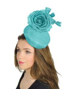 Stolichnaya Turquoise Fascinator Hat for by Hatsbycressida on Etsy e0c3da18c6f