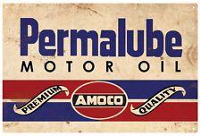 AMOCO PERMALUBE Motor Oil  Rustic  Tin Sign