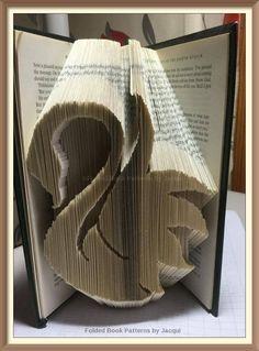 Swan Cut and Fold Book Folding Pattern by JHBookFoldPatterns on Etsy