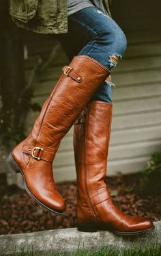 These boots are the perfect shade to welcome to the fall, crisp leaves! Make sure your wardrobe includes a cute pair of riding boots this season!