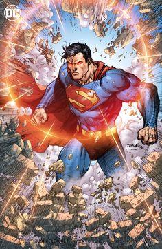 Superman by Jim Lee, colors by Pressy Patanik Superman Comic, Mundo Superman, Superman Artwork, Superman Wallpaper, Jim Lee Superman, Chibi Superman, Supergirl Superman, Comic Art, Comic Kunst