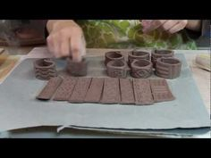 Patricia Bridges of Bridges Pottery demonstrates textured rollers to create decorative patterns on several clay projects. Learn to use these tools on your next project. Rollers are available online from http://www.bambootools.com. See more of Bridges Pottery Videos at http://www.blog.bridgespottery.com/p/videosmedia.html