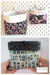 Free sewing pattern for these cute and easy fabric baskets. Fun and easy pattern comes in 3 sizes by Lou Orth Designs Sewing Patterns Free, Free Sewing, Free Pattern, Little Gifts, Little Things, Modern Sewing Projects, Storage Baskets, Pattern Making, Dressmaking