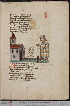 Cod. Pal. germ. 794: [Ulrich] Boner: Edelstein (Schwaben (Oberrhein? [Upper Rhine?]), um 1410/1420), Fol 13r