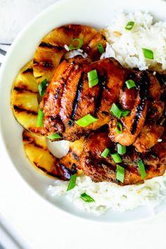 Easy Huli Huli Chicken - Fox and Briar Easy Chicken Dinner Recipes, Grilled Chicken Recipes, Turkey Recipes, Meat Recipes, Healthy Dinner Recipes, Chicken Thigh Recipes, Delicious Recipes, Free Recipes, Huli Huli Chicken