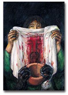 Station 6: Veronica Wipes the Face of Jesus | Artist: Sieger Koder