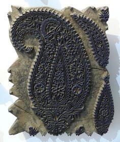"Hand stamp for printing traditional ""paisley"" designs, Isfahan, Iran"