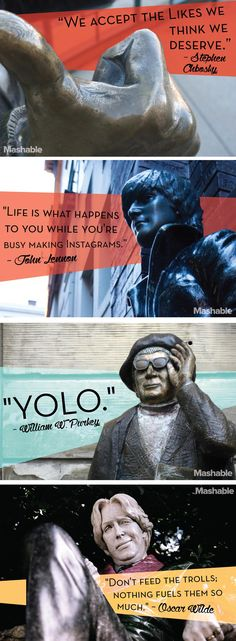 These beloved quotes from historic thinkers and famous celebrities were overdue for an upgrade, so we translated them for the modern age. #Quotes