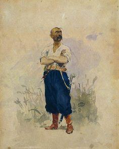 zaporozhets.jpg (800×1000)Ilya Repin Style: Realism Genre: portrait Technique: pen, brush, ink, watercolor Material: paper Dimensions: 22.5 x 18 cm Gallery: The Vitebsk Art Museum, Vitebsk, Belarus