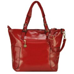 New Vintage Front Zip Detail Winged Tote Bag Colour: Red, Black ,Brown, Blue