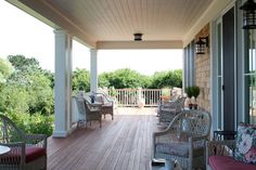 backporch designs | Welcoming back porch, coastal views. traditional porch