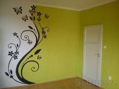 Resultado de imagen para malování na zeď brno - New Deko Sites Creative Wall Painting, Diy Wall Painting, House Painting, Painting Tips, Painting Techniques, Thread Painting, Room Deco, Wall Treatments, Room Paint