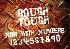 RoughTough font by GraphicsBam - FontSpace