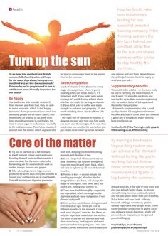 ~ Turn up the sun ~ Understanding our relationship with the sun.  ~ Core of the matter ~ The simple way to a flat stomach this summer. #locallife #Grayshott #Haslemere #Surrey #health #fitness #positive #approach