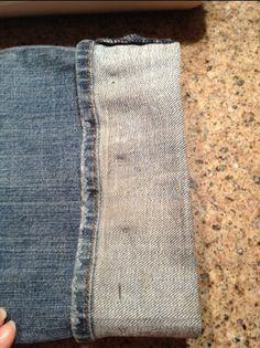 How to hem jeans (or any pants), keeping the original hem. (Would also work on simple skirts, I imagine.)UPDATE: this works perfectly.
