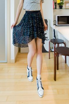 waist band uneven skirt from Kakuu Basic. Saved to Kakuu Basic Skirts. Shop more products from Kakuu Basic on Wanelo. Seoul Fashion, Asian Fashion, Korean Store, Online Fashion Stores, Store Online, Skater Skirt, High Waisted Skirt, Street Wear, Cute Outfits