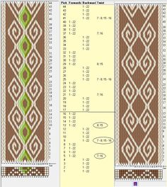 22 tarjetas, 5 / 2 colores, repite cada 16 movimientos. Modelo con torsión de tarjetas (twist) // sed_308 diseñado en GTT༺❁