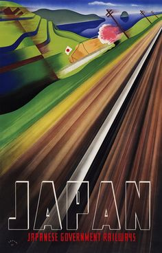 Vintage Japan Travel Poster, A train speeds by a blooming cherry tree in this gorgeous Art Deco style print. New in Vintage Travel Posters. (via Vintage Japan Travel Poster Retro Poster, Poster S, Vintage Travel Posters, Train Posters, Railway Posters, Art Posters, Japan Kultur, Tourism Poster, Kunst Poster