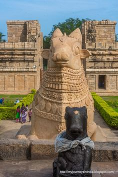 Big Nandi of Gangaikonda Cholapuram Temple - Cholapuram, Thanjavur, India Indian Temple Architecture, Ancient Architecture, Beautiful Architecture, Temple India, Hindu Temple, Temple Ruins, Mother India, Amazing India, Templer