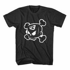 Ken Block Skull 43 Black and White Shirt Tshirt Tee