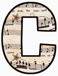 Precioso Alfabeto con Partitura Musical.