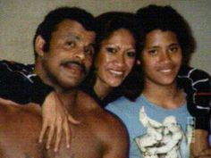 Rocky Johnson & his former wife Ata Maivia Johnson, along with their son Dwayne (The Rock)