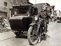 1926 Lillian Lubinsk on Motorcycle Taxi