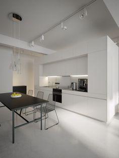 Valkoisen talon arkea: Moderni keittiö haaveissa