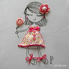 T-shirt - vma. Embroidery Art, Embroidery Applique, Embroidery Stitches, Embroidery Patterns, Diy And Crafts, Crafts For Kids, Arts And Crafts, Sewing Projects, Projects To Try