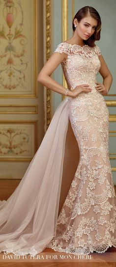 Wedding Dress by David Tutera for Mon Cheri 2017 Bridal Collection | Style No. » 117291 Zerrin
