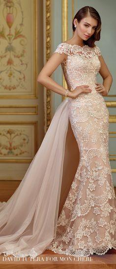 Wedding Dress by David Tutera for Mon Cheri 2017 Bridal Collection | Style No. » 117291 Zerrin