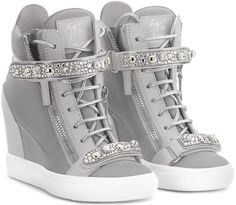 Giuseppe Zanotti Giuseppe for Jennifer Lopez 'Tiana' Hidden Wedge Sneaker