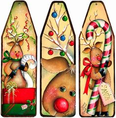 The Decorative Painting Store: More Reindeer Antics Mini-Ironing Board Ornaments, All Pattern Packets