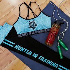 Training Session // Supernatural Teal Sports Bra & Active Capris