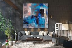 Large Abstract Painting,Modern abstract painting,painting home decor,abstract canvas art,abstract painting,textured painting FY0101