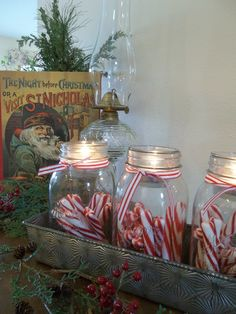 jars, candles and candies...what's not to love??