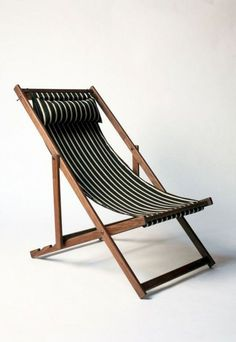 Outdoors: Deck Chairs from Gallant & Jones Currently coveting: Gallant & Jones deck chairs, featuring handmade North American black walnut frames with covers available in an array of colorf Wood Furniture, Furniture Design, Outdoor Furniture, Furniture Ads, Console Design, Comfortable Accent Chairs, Outdoor Chairs, Outdoor Decor, Dining Chairs