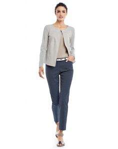 Supple Suede Malak Jacket and Chic Scale Jacquard Downtown Pant