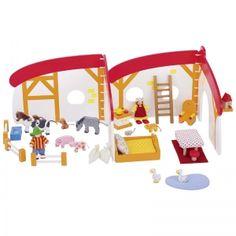Jeu Cubes & Formes de construction Ville nature Goki® Ekobutiks® l ma boutique écologique | Jouets en bois | cubes bébés