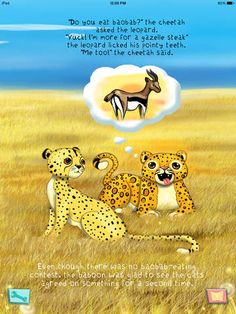 Cats with Spots - Amazing Animals Series, a new iPad app that combines the story of one cheetah's adventure with amazing facts and videos about these incredible animals.  This unique combination, designed for ages 5-8, is sure to be a hit with your children. It's a Top Pick for us at Fun Educational Apps.  Read more: http://www.funeducationalapps.com/2014/11/cats-with-spots-amazing-animals-series-top-pick-informative-storybook-app-review.html#ixzz3JQQ23vy1