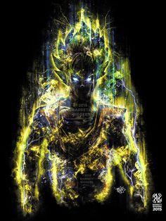 The 150 Million Power Warrior painting art por barrettbiggers